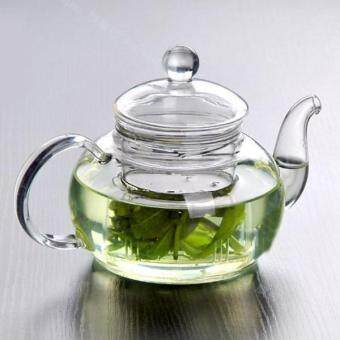 Practical Resistant Cup Glass Teapot Infuser Coffee Tea Leaf Coffee350ML