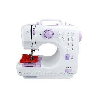 Replica Shop จักรเย็บผ้าไฟฟ้าไร้สาย12 ตะเข็บ (White/Purple)