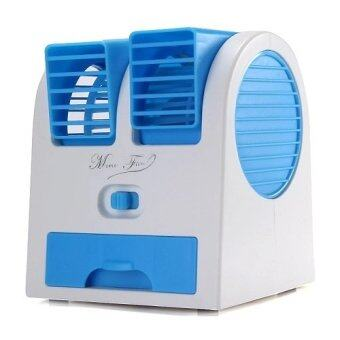 Smart พัดลมแอร์ USB Mini Fan Air Conditioning รุ่น HB-168 (Blue)