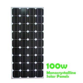 แผงโซล่าเซลล์ Solar panel Monocrystalline 100W 18V