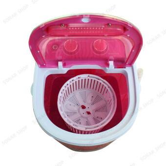 Sonar เครื่องซักผ้ามินิฝาบน ปั่นแห้งในตัว 2in1 รุ่น EW-A160 - สีชมพู (แถมเตารีดผ้าสีชมพู รุ่น SI-N34) (image 2)