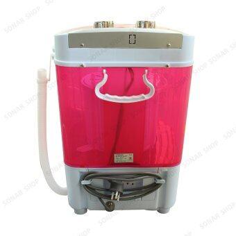 Sonar เครื่องซักผ้ามินิฝาบน ปั่นแห้งในตัว 2in1 รุ่น EW-A160 - สีชมพู (แถมเตารีดผ้าสีชมพู รุ่น SI-N34) (image 4)