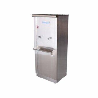 Standard By Rwc ตู้ทำน้ำเย็น สแตนเลส ขนาด 2 ก๊อก 25 ลิตร ก๊อกตุ๊กตา / เกลียวทองเหลือง