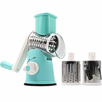 Swift Rotary Drum Grater Vegetable Cheese Cutter Slicer ShredderGrinder with 3 Interchanging Ultra Sharp Cylinders Stainless SteelDrums - intl