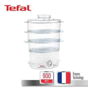 Tefal Steamer หม้อนึ่งไฟฟ้าเพื่อสุขภาพ กำลังไฟ ขนาดความจุ 9ลิตร ความจุแท้งน้ำ 1.8 ลิตร 900 วัตต์ รุ่น VC1006 -White