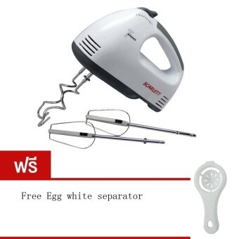 Tmall Electric 7 Speed Egg Beater Flour Mixer Mini Electric Hand Held Mixer (White) Free Egg white separator