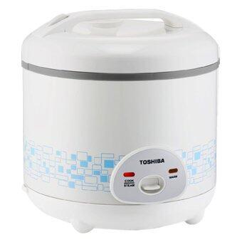Toshiba หม้อหุงข้าวอุ่นทิพย์ - รุ่น RC-T10AFS(SB) 1 ลิตร ลายกราฟฟิค สีฟ้า