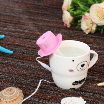 Harga USB Mini Humidifier Cowboy Cap Office Household Air PurificationHumidifier Aromatherapy Mist Maker (PInk)