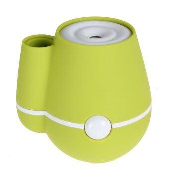 เครื่องปรับอากาศ Vase 160ml USB Ultrasonic Mini Humidifier AirPurifier Mist Maker & Perfume Aroma Diffuser Atomizer for HomeRoom Health Car (Yellow)