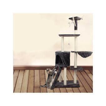 ประกาศขาย คอนโดแมวรุ่น 1618 ขนาด : 138 X 50 x 35 cm - สีเทา