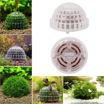 Aquarium Fish Tank Plastic Moss Ball Live Plant DecorationAccessories - intl