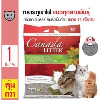 อยากขาย Canada Litter ทรายแมวภูเขาไฟ ทรายธรรมชาติ จับตัวเป็นก้อนดี ไม่มีฝุ่น สูตรลาเวนเดอร์ สำหรับแมวทุกสายพันธุ์ ขนาด 12 กิโลกรัม