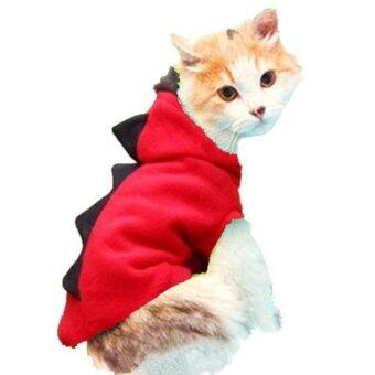 Harga Cat dog pet dragon dress dress coat jacket(Red-S) - intl