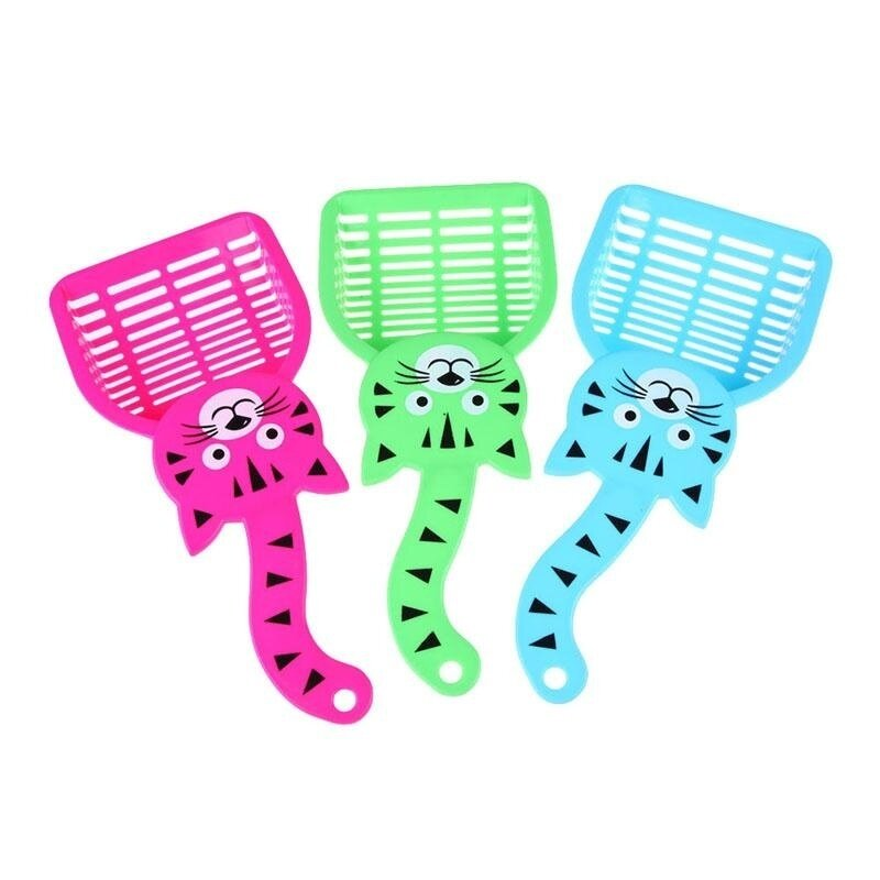 Cat Dog Pet Poop Scoop Sieve Litter Animals Wastes Cleaning Plastic Color Random - intl