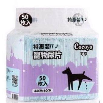 Cocoyo แผ่นรองซับสัตว์เลี้ยง แผ่นรองฉี่สุนัข แบบมีเจล สำหรับสุนัขพันธุ์กลาง Size M ขนาด 44x60 ซม. (50 แผ่น/แพ็ค) x 2 แพ็ค (image 1)