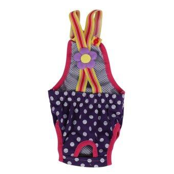 Dog Diaper Suspender Underwear Reusable Washable Pants Purple XXS -intl
