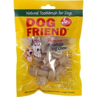 Dog Friend ขนมขบเคี้ยวสุนัข กระดูกผูก 2.5 นิ้ว สีธรรมชาติ 8 ชิ้น (3 ซอง)