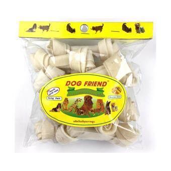 Dog Friend ขนมขบเคี้ยวสุนัข กระดูกผูก 4.5 นิ้ว สีขาว 11 ชิ้น (1 ซอง)