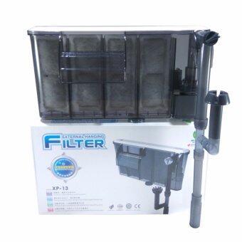 E.F.W. เครื่องกรองน้ำและปั้มลม ภายนอก XP-13 Jenecaสำหรับตู้ปลาขนาดเล็ก ทำความสะอาดตู้ เพิ่มออกซิเจน น้ำตก CycloneExternal Filter Water Filter Pump Cleaning Oxygen Waterfall (Black)