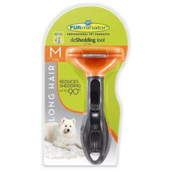 Furminator แปรงหวีขนสุนัข กำจัดขนเสีย สำหรับสุนัขขนยาว พันธุ์กลาง (ขนาด M)
