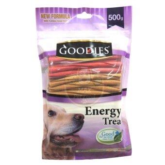 รีวิว Goodies เอ็นเนอร์จี้ทรีตแท่งเกลียว คละรส ขนมสุนัข 500กรัม คละสี 1 ถุง