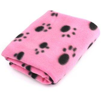 Harga AC Cute Pet Dog Cat Blanket Paw Prints Soft Mat Pad Bed Cover 2 Colors - intl