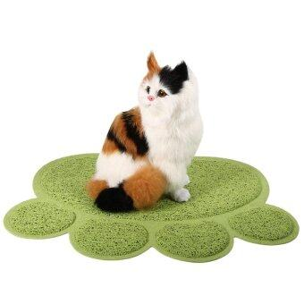 Harga Fashionable Dog Cat Paw Shape Bed Pet Food Water Feeding Place Pad (Green) - intl