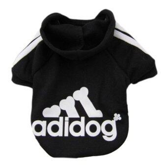 Harga YingWei Dog Pet Cat Sweater Hoody Coat Jacket Puppy clothes M(Black) - intl