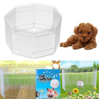 Harga 8 Panel Portable Exercise Playpen Pet Crate Cage Dog Kennel Puppy Fence Folding - intl