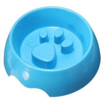 Harga Non Slip Puppy Dog Cat Pet Slow Anti Slip Feeder Dish Feeding Food Bowl Water S - intl