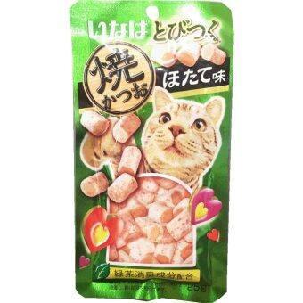 INABA Soft Bits ขนมแมวซอฟท์ บิต ปลาทูน่าและเนื้อสันในไก่ รสหอยเชลล์ปริมาณ 25 กรัม (3 Unit)