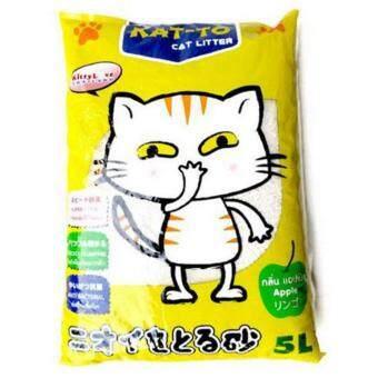 KAT-TO Cat Litter 5 Litres (Apple) แคทโตะ ทรายแมว กลิ่นแอปเปิ้ล ขนาด 5 ลิตร
