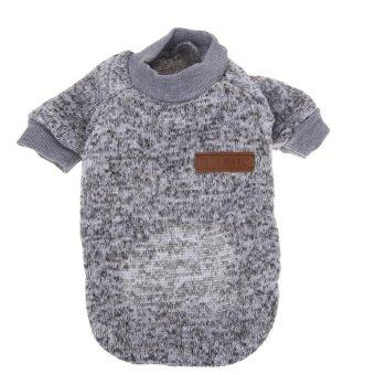 Harga New Pet Dog Cat Sweater Clothing Coat (Grey) (XS) - intl