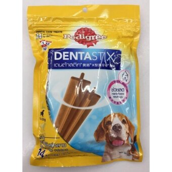 Pedigree Dentastix ขนมขัดฟัน สำหรับสุนัขพันธุ์กลาง ขนาด 344g ( 5 units )