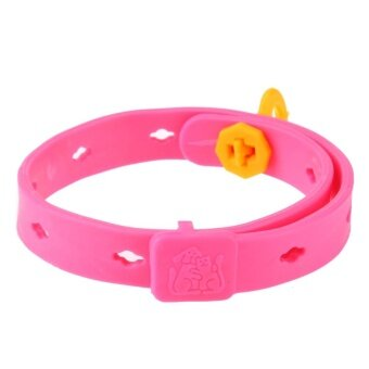 Harga Pet Cat Collar Anti Mosquito Protection Cat Anti Flea Tick MiteRepellent (Pink) - intl