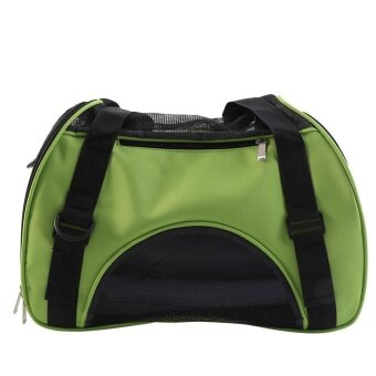 Pet Dog Cat Puppy Outdoor Carrier Single Shoulder Breathable CarryBag (Green) - intl รูบที่ 2