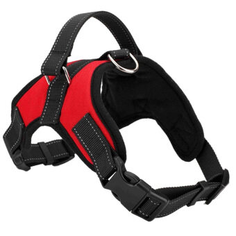 Pet Dog Soft Adjustable Harness Pet Walk Out Hand Strap Vest Collar(Red) (L) - intl