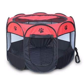 PetInspire กรงสนาม กรงสุนัข พับได้ Elitefield Dog Cage Size L Brown (สีแดง/Red)