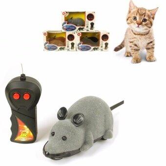 ต้องการขายด่วน รีโมทคอนโทรลไร้สายเมาส์หนูของเล่นสัตว์เลี้ยง ของเล่นแมว ของเล่นหมาของเล่นแมวจับหนู เกมส์แมวจับหนู สีเทา หนูรีโมท