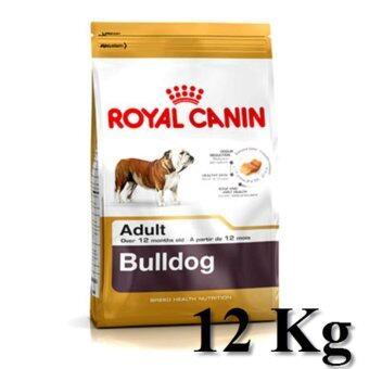 Royal Canin Bulldog Adult 12Kg อาหารสุนัขแบบเม็ด\nสำหรับสุนัขโตพันธุ์ บลูด็อก อายุ 12 เดือนขึ้นไป ขนาด12กิโลกรัม