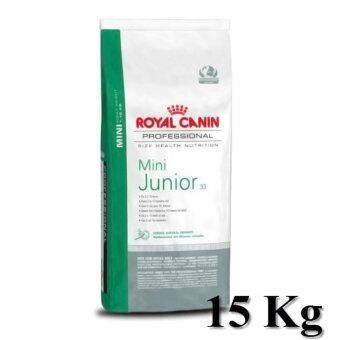 Royal Canin Mini Junior 15 Kg. อาหารลูกสุนัข พันธุ์เล็ก\nอายุน้อยกว่า 10 เดือน ขนาด 15 กิโลกรัม