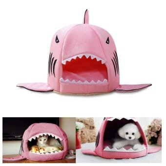 Harga Shark Warm Indoor Kitten Dog Cat Sofa Bed Puppy Pet House With Mat(S) - intl