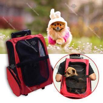 TML กระเป๋าใส่สุนัข แมว แบบสะพายหลัง และลากได้เหมือนกระเป๋าเดินทาง Pet Backpack Bag รุ่น PBP56-PO