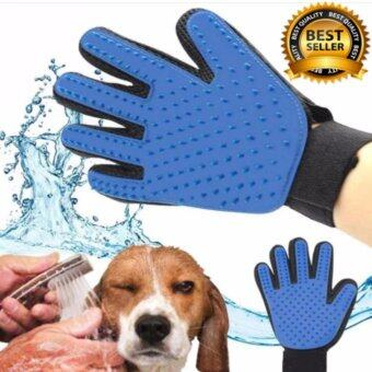 TRUE TOUCH Pet Glove C แปรงขนสัตว์เลี้ยง หวีขนหมาและขนแมวแปรงขนสุนัข