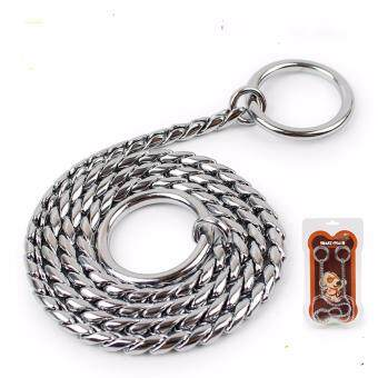 Universal Stainless Steel Adjustable Training Dog Collar SnakeChain(45cm*4.0mm) - intl