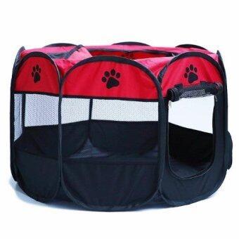 Voice กรงสุนัข กรงสนามสำหรับสุนัข รุ่น QSPT-001-red