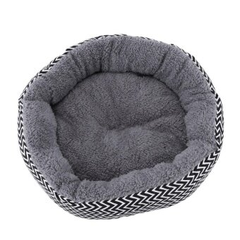 Washable Soft Warm Pet Dog Cat Bed House Cushion Basket Pad(Grey-S) - intl