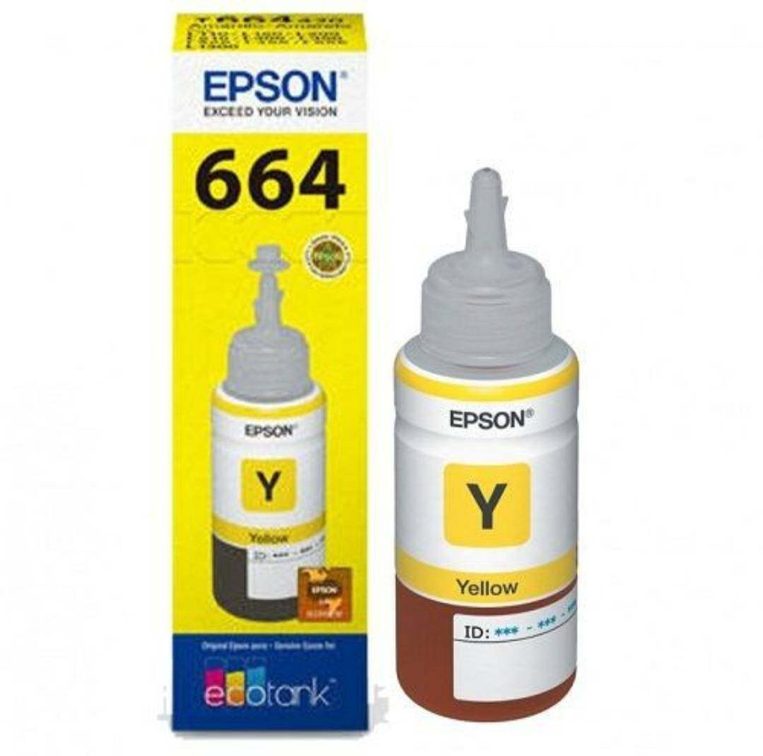 Epson หมึกพิมพ์ เอปสัน แท้ Epson L100, L110, L120, L200, L210,L220, L300,L310, L350, L355,L365,L360,L455, L550, L555,L565, L1300 รุ่น T6641 T6642 T6643 T6644 (no box)