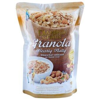 Diamond Grains Almond Granola ซีเรียลกราโนล่า ผสมอัลมอนด์ 220กรัม (image 0)