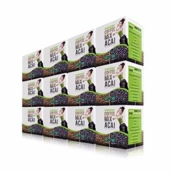 SWIZER COFFEE MIX ACAI BERRY สไวเซอร์ คอฟฟี่ มิกซ์ พลัส อาซาอิ ขนาด150 กรัม 12 กล่อง